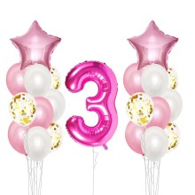 16 inch Happy Birthday 0-9 Foil Balloons Baby Boy Girl 3st three Party Decoration Garland Kids Adult supplies