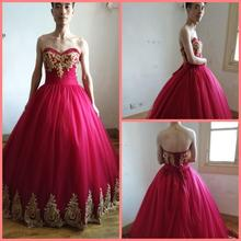 2019 real photo wine tulle lace appliques ball gown prom dresses strapless sweetheart neckline beaded pleated corset prom gowns