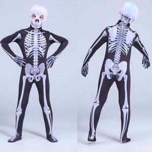 Image 3 - 가족 무서운 악마 악마 해골 해골 남자 여자 아이 할로윈 카니발 파티 의상