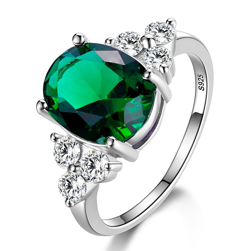 Women's Rings 925 Sterling Silver Jewelry Ring With Oval Cut AAAAA Royal  Blue Red Emerald Green Olive Zircon Ring Wedding Gifts|Rings| - AliExpress