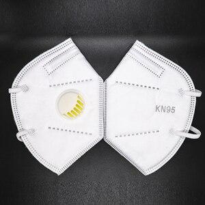 Image 5 - 5 שכבות KN95 שסתום מסכת מסכת הגנת FFP2 מסכות סינון פה כיסוי אנטי אבק זיהום FFP3 פנים מסכה