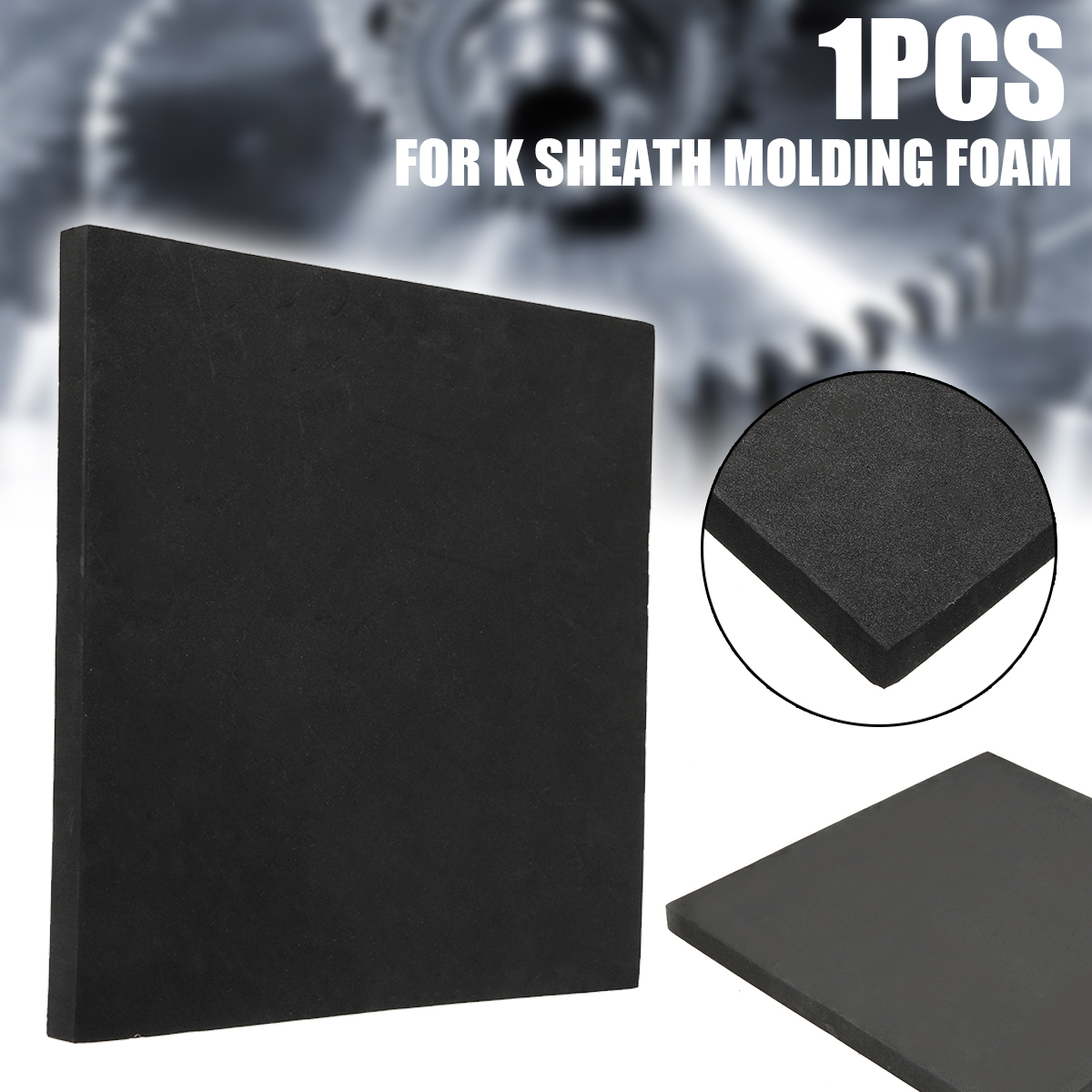 320*320*20mm EVA Adhesive Foam Black K Sheath Molding Foam Kydex Produce K Sheath DQK Kydex Produce K Sheath Accessories Foam