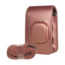 Retro yumuşak PU deri kılıf Mini kamera çantası çantası Fuji kamera omuz askısı kamera kılıfı Fujifilm Instax Mini LiPlay