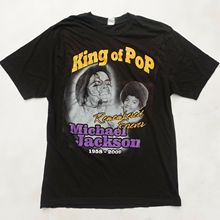 Vintage MICHAEL JACKSON Mens Large T-Shirt King Of Pop MJ Childhood RAPTEE Anime