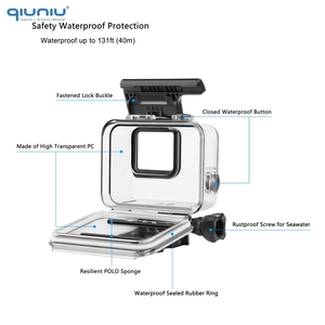 Image 3 - QIUNIU 40m Underwater Diving Waterproof Housing Case + Dive Lens Filter Kit for GoPro Hero 7 Silver/White for Go Pro 7 Accessory