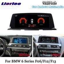 Liorlee سيارة مشغل وسائط متعددة لسيارات BMW 6 سلسلة F06 F12 F13 2011 ~ 2018 راديو أندرويد CIC NBT ستيريو نظام تحديد المواقع والملاحة