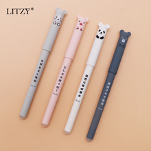 цена Erasable Washable Handle Erasable Pen Refill Panda Bear Mouse Erasable Blue Ink Gel Pen for School Office Supply Gift Stationery онлайн в 2017 году