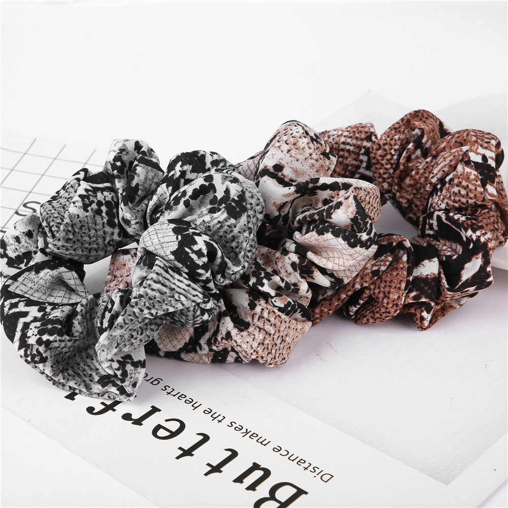 2019 Fashion NEW Women's Snake Elastic Hair Bands Ladies Stretch Ponytail Rubber Print Headband Solid Headwear Hair Accessories