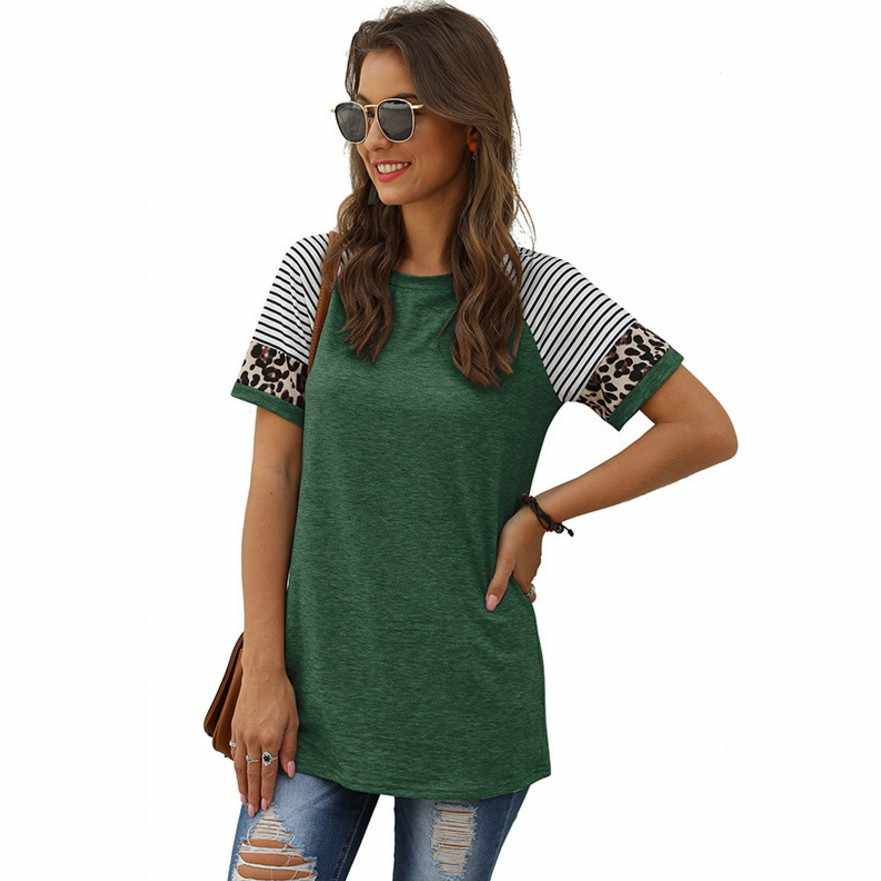 2020 Women Blouse Leopard Printed Shirt Long Sleeve Plus Size Loose Casual Tops