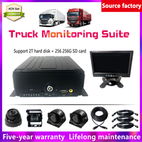 LSZ Hard disk + SD card AHD 960P MDVR + 3 inch side mounted waterproof camera bus/taxi Mobile DVR Sets