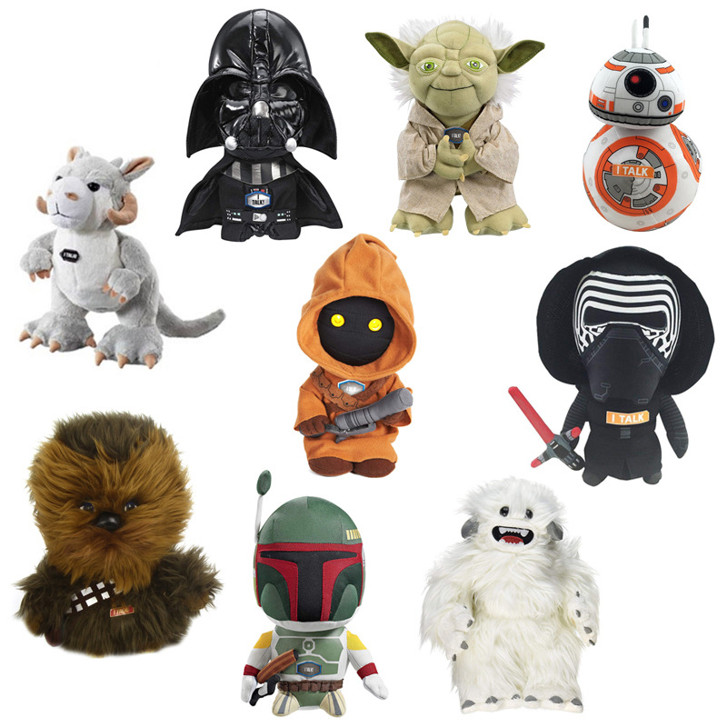 Star Wars Plush Soft Toys Starwars Stuffed Talking Figure Darth Vader BB-8 Rey Yoda Tauntaun Soft Plush Kids Toys