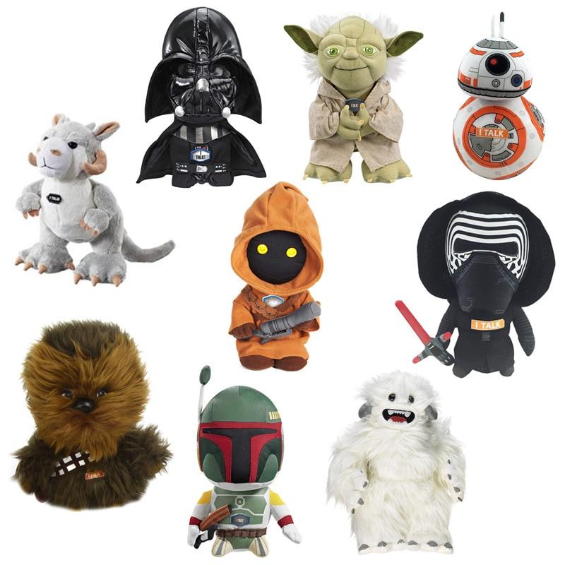 Star Wars Plush Soft Toys Starwars Stuffed Talking Figure Darth Vader BB-8 Rey Yoda Tauntaun Soft Plush Kids Toys