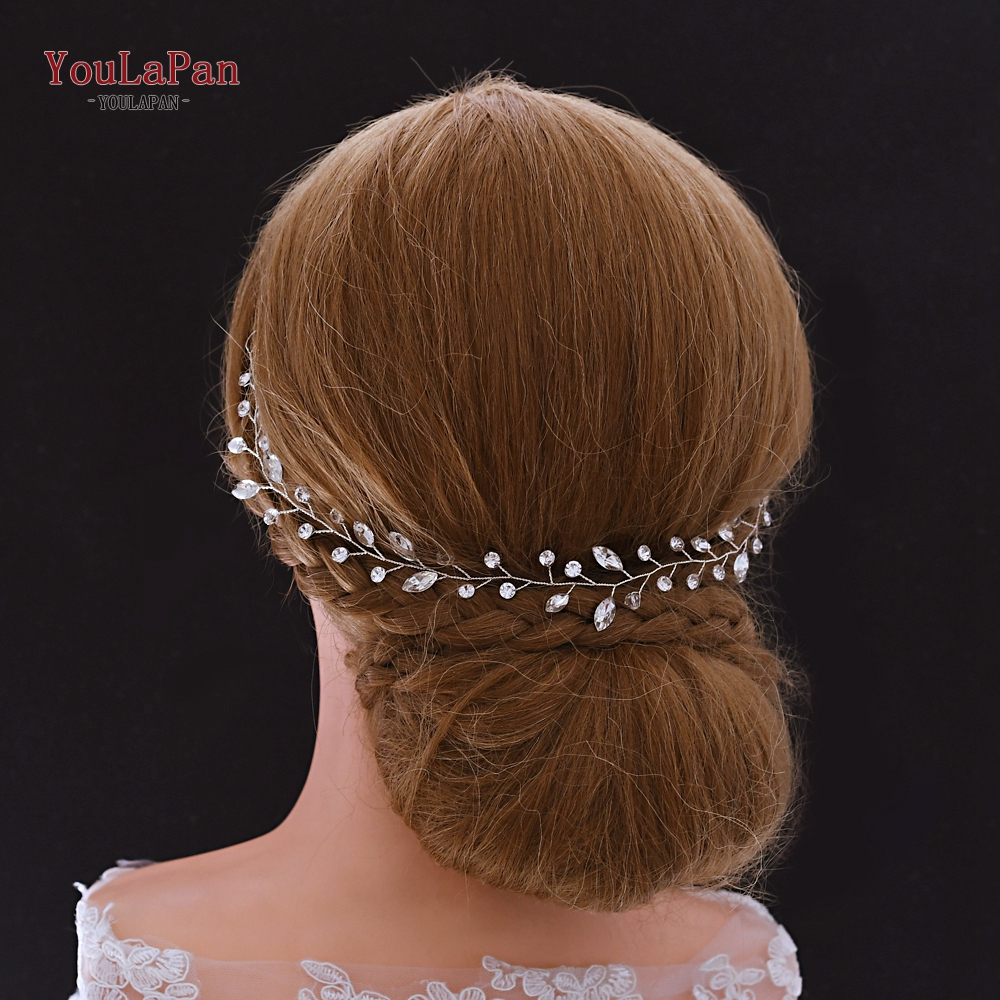 YouLaPan HP267 Wedding Headband Rhinestone Headpiece Bridal Hair Vines For Wedding Tiara Bridal Hair Jewelry Wedding Accessories