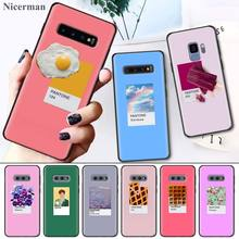 Back Case Cover Coque for Samsung Galaxy S8 S9 S10 S10e 5G Note 8 9 10 5G Plus S7 S7 Edge S8+ S9+ S10+ Pantone Candy Color Fruit цены онлайн