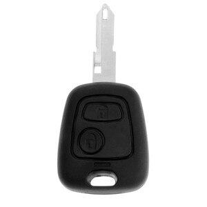 Image 1 - 2 botões remoto caso chave escudo forpeugeot 106 206 306 405 em branco substituição chave fob caso do escudo capas