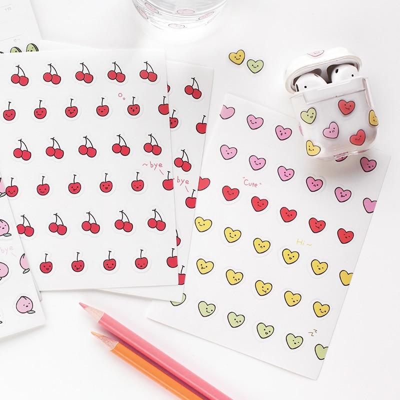 Ins Cute Cartoon Fruity Series Decoration Sticker Student Phone Shell Notebook PVC Waterproof Avocado Sealing Sticker Stationery