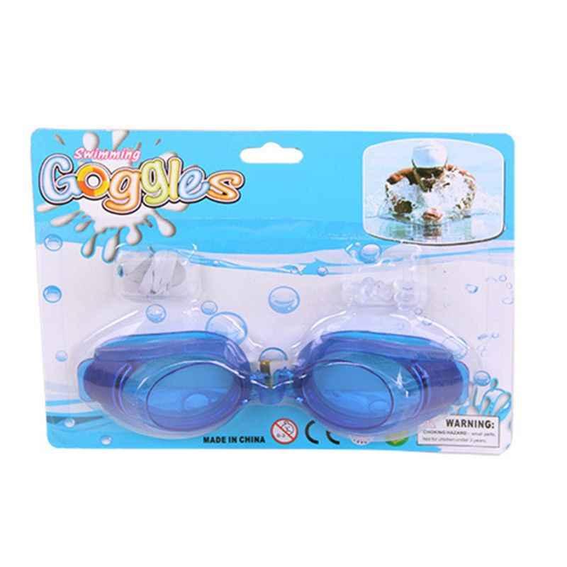 Kadın erkek yetişkin su geçirmez Anti sis yüzme gözlükleri seti UV koruma geniş görünüm ayarlanabilir gözlük burun mandalı kulak tıkacı