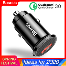 Baseus Mini USB Car Charger Quick Charge 3.0 Car