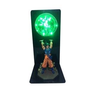 Image 2 - Actions Figure Dragon Ball Room Decorative Lamp Son Goku Super Saiyan Figures Led Light Goku Figure DBZ Led Bulb Table Light