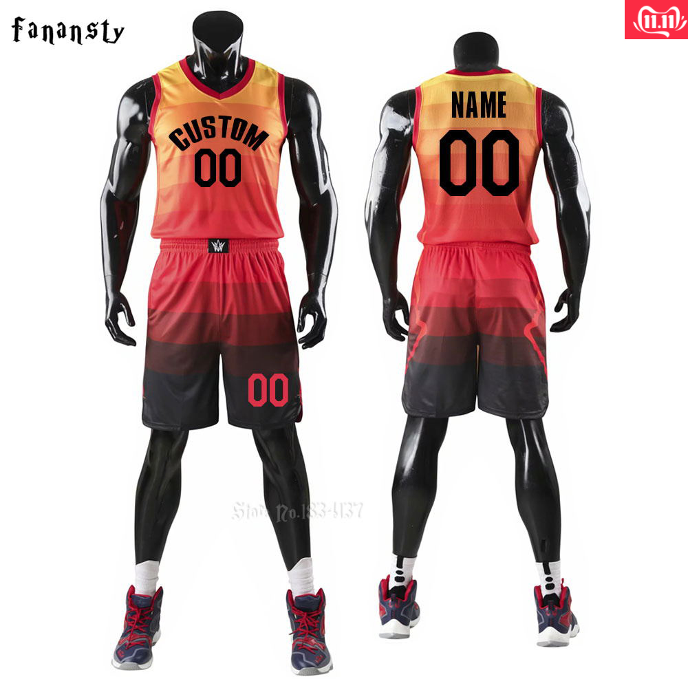 Custom Basketball Jersey-Red Personalized Uniform-Youth and Adult Jerseys