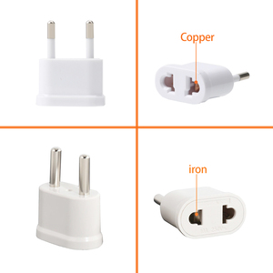 Image 5 - US to EU Europe Plug Power Adapter White Travel Power Plug Adapter Converter Wall Charger plug