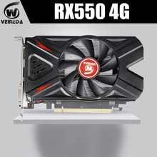Placa gráfica rx 550 4g amd gddr5 128bit 1183mhz 6000mhz 14nm dp dvi 512 unidades 14nm rx550 4gb placa de vídeo