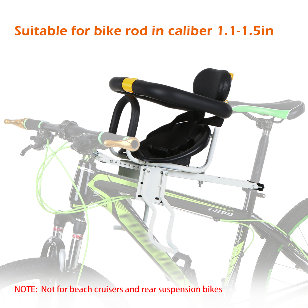Safety Child Bicycle Seat Bike Front Baby Seat Kids Saddle+Foot Pedals Portable