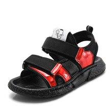 2019 New Patchwork Boys Nubuck Leather Sandals Fashion Kids Summer Flats Single Shoes Children Antislip Sole for
