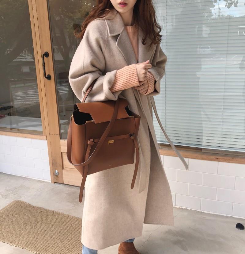 19 Winter Oversize Long Trench Coat Women Cashmere Coat Korean Lady Windbreaker Outwear Streetwear 69