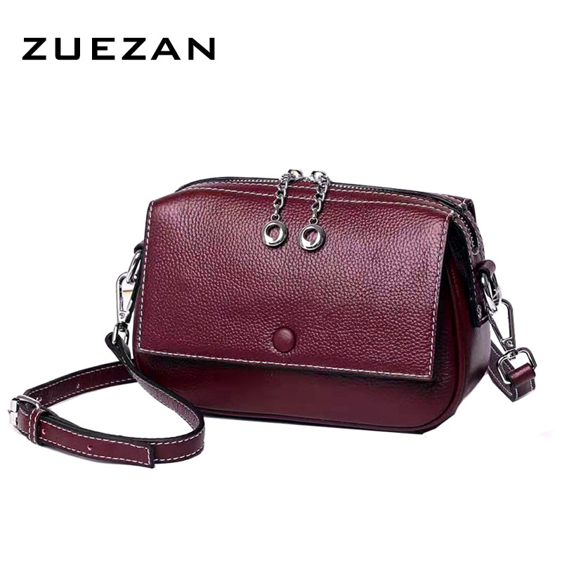 Small Fashion Bag, Women Genuine Leather Shoulder Bag, Female Casual 100% Natural Cowhide Cross-body Bags D007