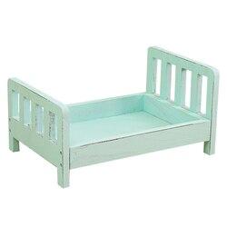 Acessórios de estúdio recém-nascidos adereços posando berço fundo presente infantil destacável bebê fotografia sofá cama de madeira cesta foto tiro