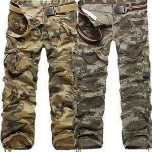 Image 3 - LIFENWENNA, осенние мужские брюки карго, камуфляжные брюки, военные брюки для мужчин, 7 цветов, мужские брюки с карманами