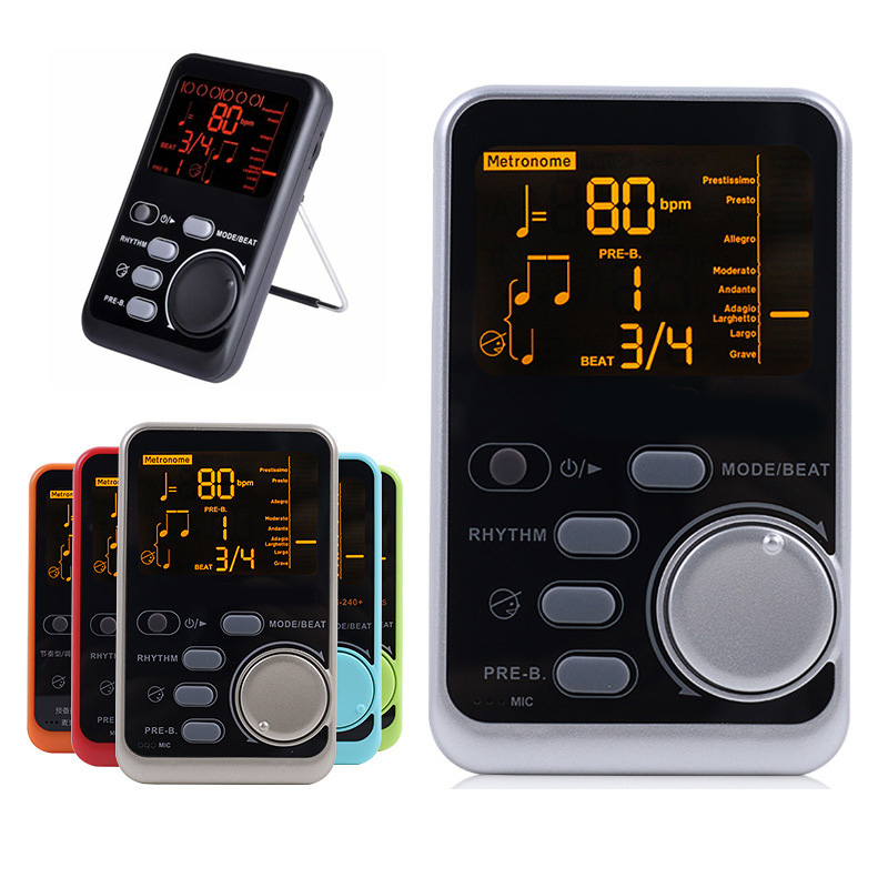 Hot WSM-240 Metro-tuner Rhythm Device Portable Electronic Metronome Universal Tuner Musical Instrument Accessories MVI-i