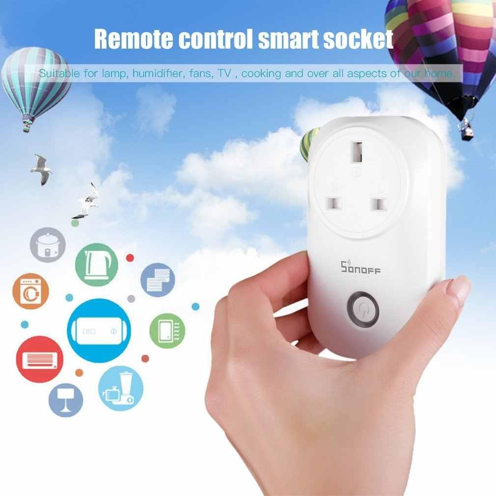 Sonoff S20 ue/US/royaume-uni sans fil WiFi minuterie prise 10A 2200w prise d'alimentation à distance IOS Android téléphone télécommande maison intelligente