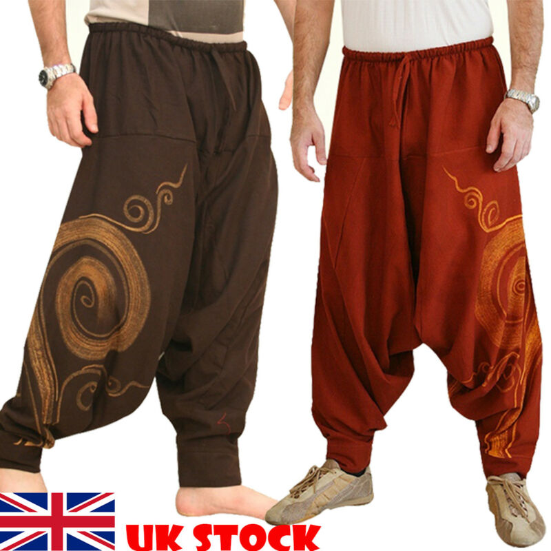 Men Baggy Pants Harem Style Festival Hippie Boho Alibaba Harem Desert Pants Men Casual Loose Pants Male Clothing Desert Trousers