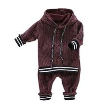 Осенние комплекты, комплекты для маленьких мальчиков, толстовка в полоску с длинными рукавами и буквенным принтом+ штаны, повседневные комплекты