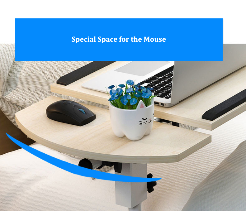 Foldable Laptop Stand with Rotating Wheels and Side Space for Keyboard and Mouse 10