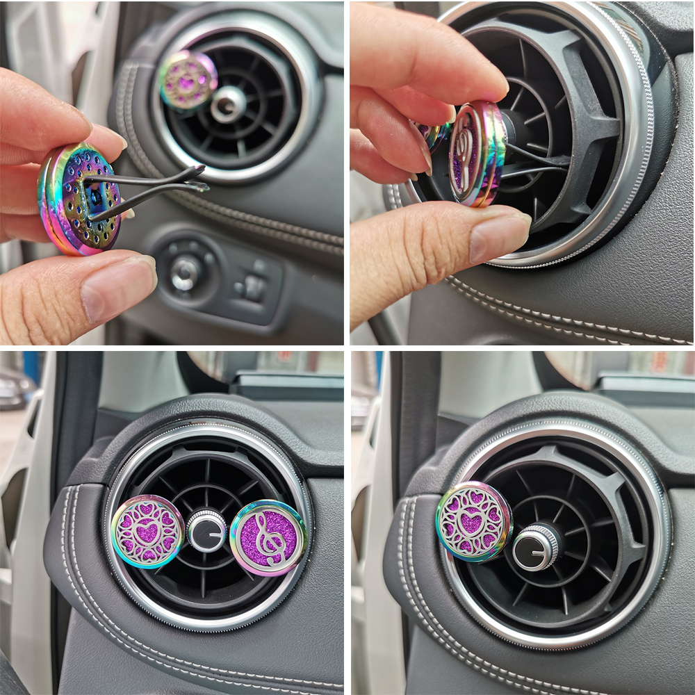 New Colorful Car Air Freshener Auto Outlet Perfume Diffuser Clip Locket Fragrances Aromatherapy Vent Freshener Dropshipping in Air Freshener from Automobiles Motorcycles