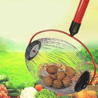 Garden Fruit Picker Chestnuts Harvester Long Retractable Aluminum Alloy Boom Golf Balls Fruit Walnut Catcher Picking Tool