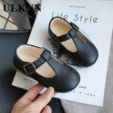 Обувь для девочек ulknn Новинка осени 2020 кожаные туфли детская
