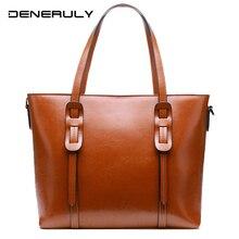 цены Large Vintage Genuine Leather Tote Bags Women Real Leather Handbag High Quality Soft Cow Top-handle Bags Newf Ashion Canta Bayan