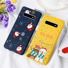 Winter Nieuwe Kerst Matte Case Voor Samsung Galaxy A70 A60 A50 A40 A30 A5 A7 A8 A9 A6 Note 5 8 9 10 Pro Plus M10 M20 M30 Covers(China)