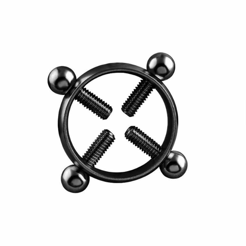 G Spot Vibrator Dildo 1Pcs Edelstahl Runde Nicht Piercing Nippel Ring Schild Piercing Schmuck Großhandel Dropshipping