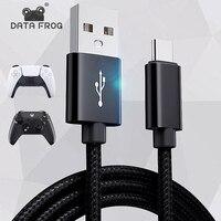 DATEN FROSCH 1m/2m/3m Ladekabel für PS5/Xbox Serie S X Controller USB Typ C Power Kabel für Playstation 5 Gamepad Zubehör
