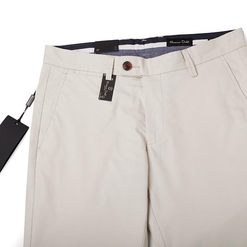 M + Summer Thin Section Versatile Trousers Men's Pure Cotton Slim-Fit Pants Solid Color Casual Pants Middle-aged Men Straight-Cu