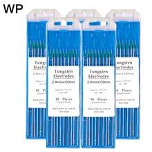 10 шт. WP зеленый цвет чистый Вольфрам электродная головка 1,0/1,6/2,0/2,4/3,2/4,0 мм Вольфрам с мультиигловой системой/стержень для 150 мм TIG сварочный ап...