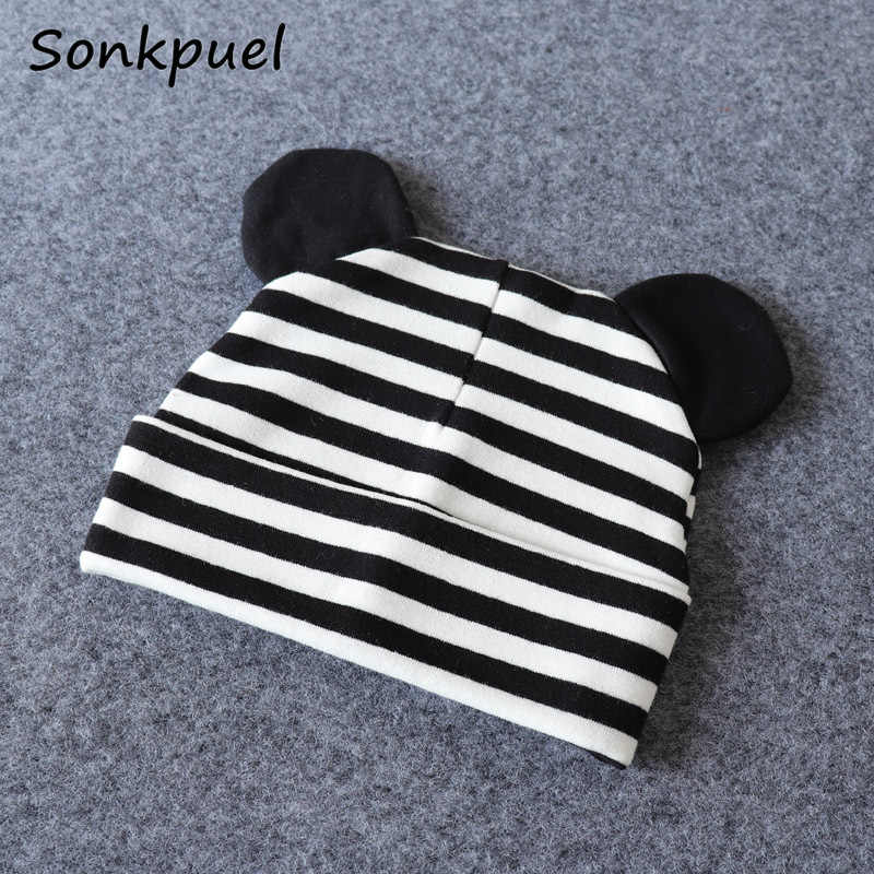 Baby Hat With Ears Cotton Warm Newborn Accessories Baby Girl Boy Beanie Cap