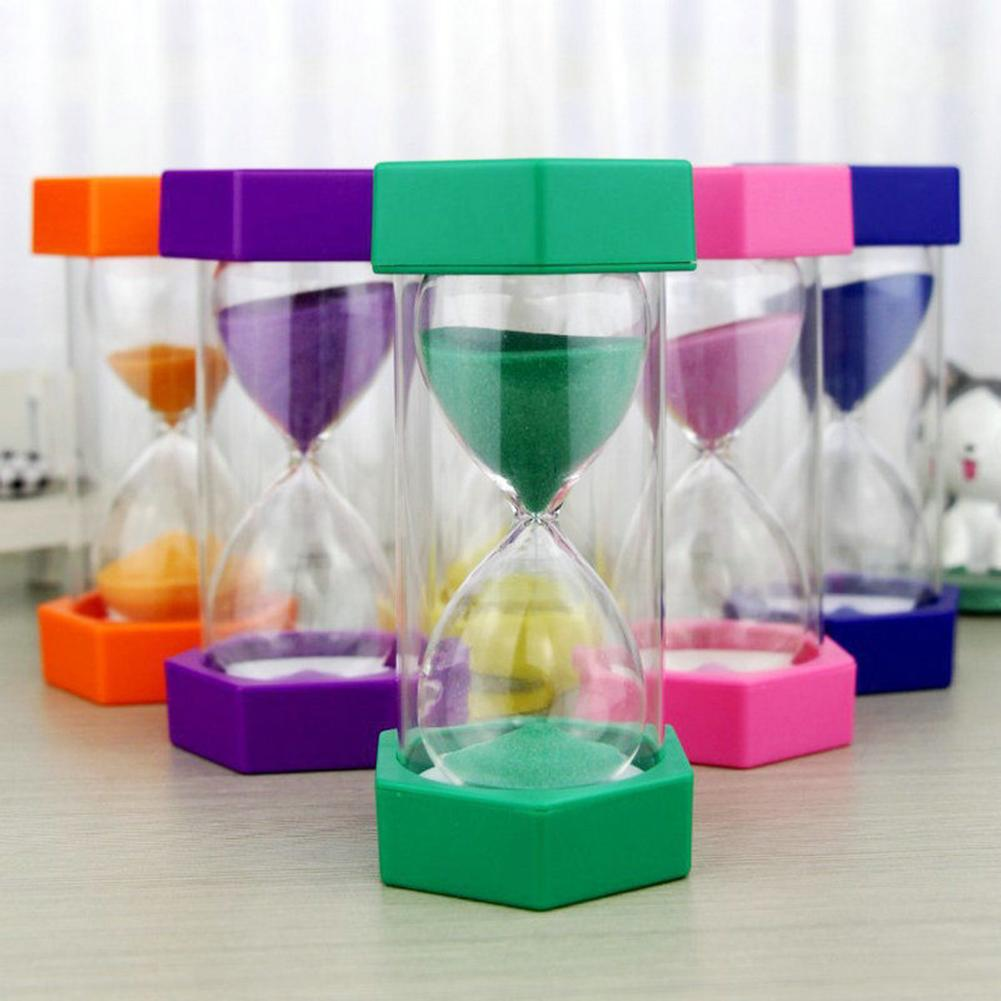 5/10/15/20/30Min Hourglass Sandglass Sand Clock Kitchen Timer Child Game Toy Perfect Christmas Gifts For Little Children