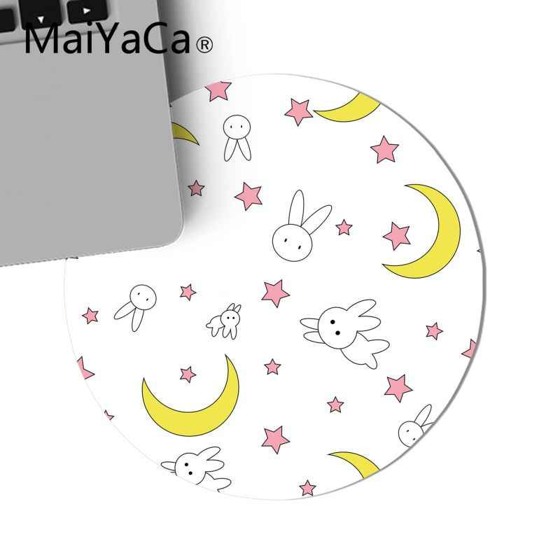Maiyaca Ragazzo Regalo Pad sailor moon cat FAI DA TE Game Design Rotondo Mousepad gaming Mouse pad Tappetini Per PC Del Computer Portatile Notebook gamer scrivania pad
