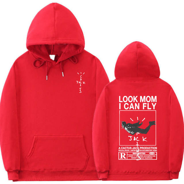 LOOK MOM I CAN FLY TRAVIS SCOTT THEMED HOODIE (10 VARIAN)